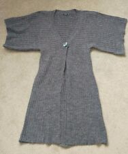 VILA Ladies Women's Grey Short Sleeve Long Cardigan Size XS