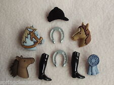 Vestirla Botones ~ Triple Corona ~ Gymkhana ~ Pony ~ Caballo ~ Roseta ~ sombrero