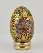 Franklin Mint Treasury of Eggs Collectors Egg With Stand ~ Cloisonné