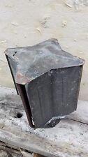 Chapeau toit capot de cheminée métal ancien/protection conduit/anti pluie 200 mm