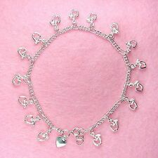 Sterling Silver - 10 Inch Apple Anklet (AK021)