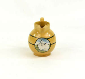 SATURDAY EVENING GIRLS PAUL REVERE POTTERY DECORATED PITCHER RABBIT