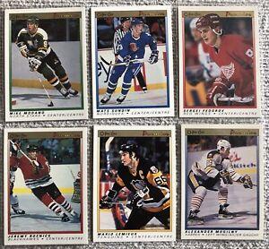 (5) 1990-91 OPC Premier Rookies - Sundin, Mogilny, Roenick, Federico, Modano NMM