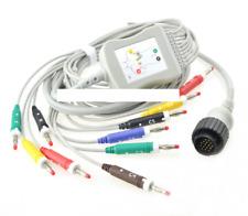 Compatible Kenz cardioline delta 3 plus Ten lead ECG EKG Cable