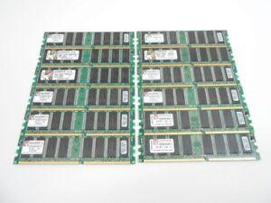 (12) Kingston 512MB DDR-400 Memory Ram PC3200 DIMM KVR400X64C3A 6GB (12x512MB)