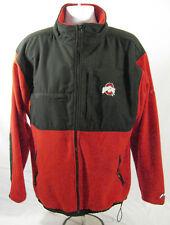 Pro Player OHIO STATE Fleece Jacket size LARGE Draw string Zip Pockets Mock neck