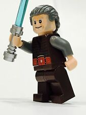 LEGO STAR WARS JEDI CUSTOM OLDER GRAY HAIR MINIFIG 100% NEW LEGO PARTS KNIGHT