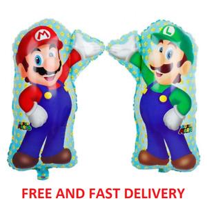 Super Mario & Luigi Pair Of Balloons - Air Or Helium Birthday Party Nintendo