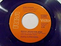 John Denver Rocky Mountain High / Spring 45 1972 RCA Vinyl Record