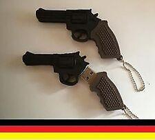 Revolver Pistole Gun USB Stick  4GB 4 GB Gadget 2.0 Flash Drive Witzig Geschenk