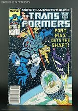 THE TRANSFORMERS #39 1987 Marvel Comic US G1 Fortress Maximus Shockwave 131108