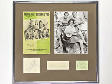 Bob Hope, Dorothy Lamour, Bing Crosby Autographs and Photo