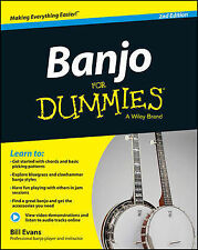 NEW Banjo For Dummies: Book + Online Video and Audio Instruction by Bill Evans