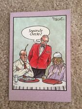 Anniversary Card - Separate Checks, Humorous, Cartoons By Eric Decetis