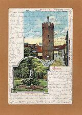 Litho AK GUBEN  1905 Werderthor Turm und Schützenpark   ( 29560