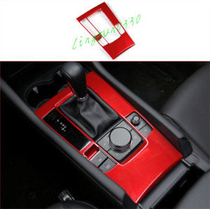 For Mazda 3 2019 2020 2021 Red ABS Interior Gear Shift Box Panel Cover Trim