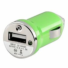 Mini USB Car Charger Adapter - Green