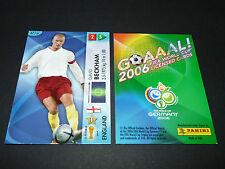 DAVID BECKHAM ENGLAND PANINI CARD FOOTBALL GERMANY 2006 WM FIFA WORLD CUP