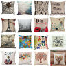 Fashion Home Decor Linen Cotton Throw Pillow Case Sofa Waist Cushion Cover Gift