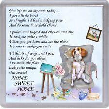 "Beagle Dog Coaster ""HOME SWEET HOME Poem ...."" Novelty Gift by Starprint"