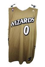 🔴 VTG Gilbert Arenas Washington Wizards NBA Jersey Gold Agent 0 Adidas 3XL