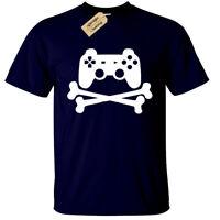 Jeu Manette Patin T-Shirt Drôle Hommes Geek Joueur ps4 Xbox un PC Rétro Console