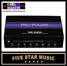 CARL MARTIN PRO POWER VERSION 2 MULTI PEDAL POWER SUPPLY (V2) 9V 12V AUS PSU NEW