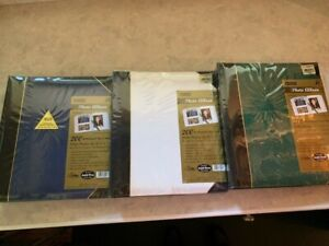 Set of 3 Pioneer TBT57Ledger Le'Memo Album, 5x7-200 #TBT57 Green Blue and White