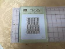 New Stampin Up Letterpress Fancy Fan Background texture plate