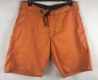 VOLCOM Mens Boardshorts Cinch Fly Size 36 Orange Swim Trunks Surf Shorts