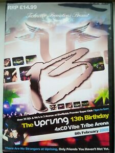 UPRISING- 08.02.08- 13th BIRTHDAY PARTY -VIBE TRIBE ARENA 4 CD PACK