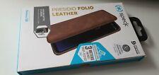 Genuine Speck Presidio Folio Leather Wallet  Case Cover Samsung S9 Saddle Brown