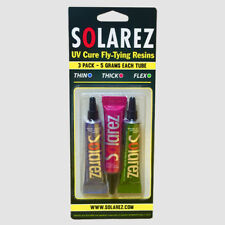 Solarez UV Cure Fly Tying Resin 3 pack..1 each-Thin, Thick & Flex