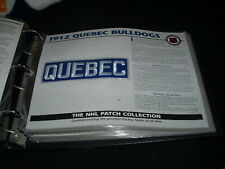 QUEBEC BULLDOGS 1912 TEAM LOGO PATCH willabee & ward
