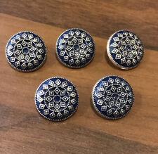 Navy Blue Metal Buttons