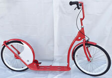 "Adult Kick Scooter Kick Bike 20"" Wheels Red with White"
