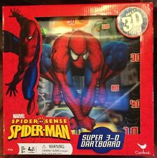 Marvel Spiderman Super 3D Magnetic Dartboard. New In Box