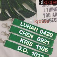 KPOP EXO Key Chain CHEN Keyring KAI SEHUN DO SUHO BAEKHYUN LUHAN LAY KRIS TAO