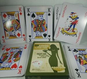 Vintage Wembley Jumbo Playing Cards 100% Complete Deck Great Shape! See Pics!