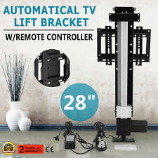 "28"" AUTOMATIC TV LIFT BRACKET MOUNTING BRACKETS W/REMOTE CONTROLLER STROKE 700MM"