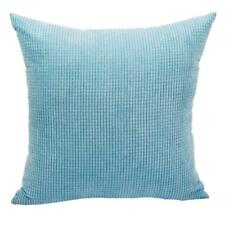 Square Soft Blue Pillow Case Home Decorative Throw Sofa Bed Cushion Cover