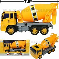 CEMENT MIXER TRUCK TOY CONSTRUCTION VEHICLE FRICTION POWERED KIDS LOVE THEM!