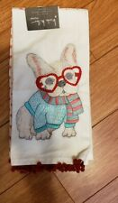 NWT French Bulldog with hearts kitchen towel set