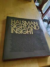 sight and insight, 1972, by Philippe Halsman, 1st edition, HCDJ