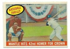 1959 Topps Mickey Mantle # 461 set break