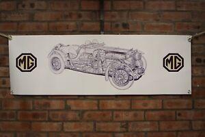 mg magnette k3  large pvc  WORK SHOP BANNER garage man cave car show banner