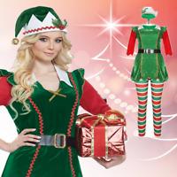 Green Red Elf Hat with Pompoms on Headband Santa Helper Costume Accessory Pompom