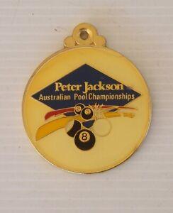 VINTAGE 1992 PETER JACKSON AUSTRALIAN POOL CHAMPIONSHIPS AWARD MEDAL BADGE