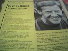 football ephemera 1969 article dave chadwick middlesborough