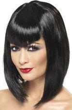 Brillante Vamp Parrucca per donna nero nuovo - Carnevale parrucca Capelli
